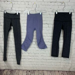 Lululemon Crop and 7/8 pant LOT OF 3 In the Flow